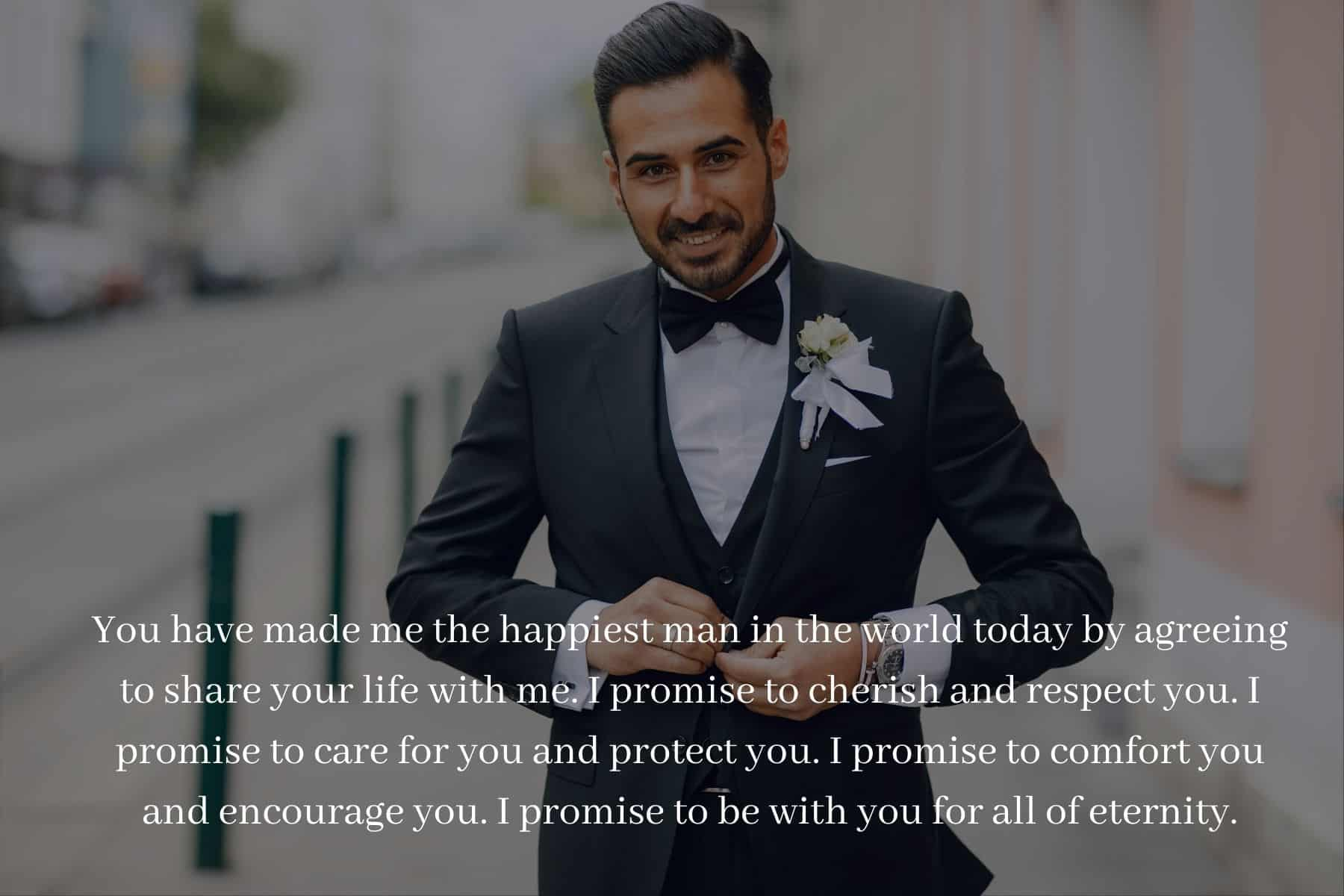 Non traditional wedding vows for him