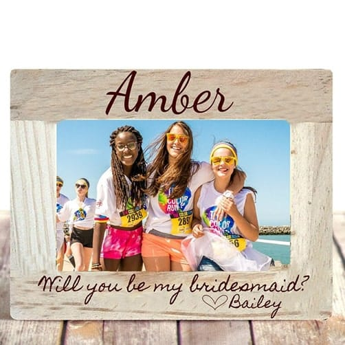 Photo Frame: bridesmaid asking gift ideas