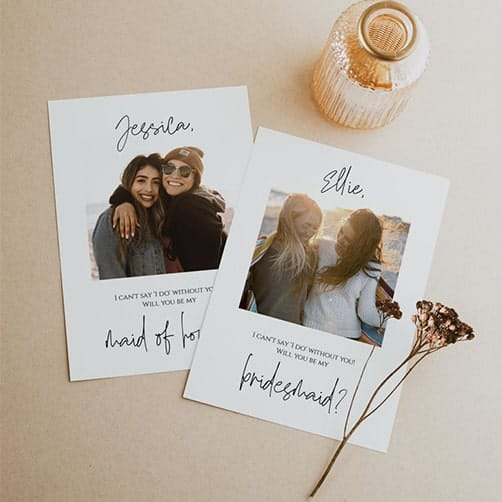 Photo bridesmaid proposal cards