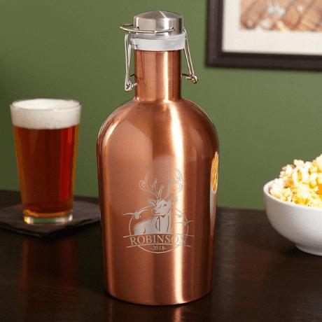 Beer Growler for Hunters - outdoor groomsmen gifts
