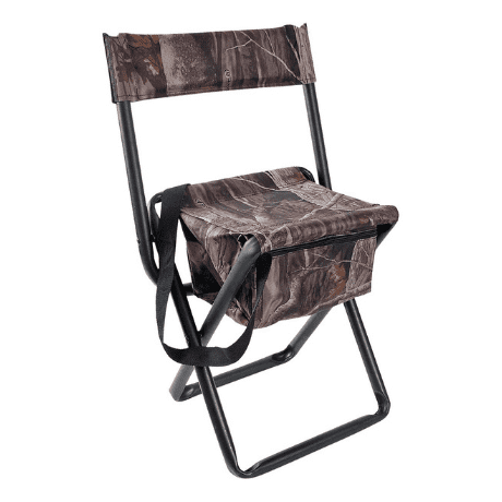 Hunting Stool with Back and Storage