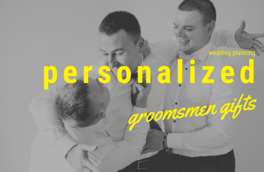 Personalized groomsmen gifts banner