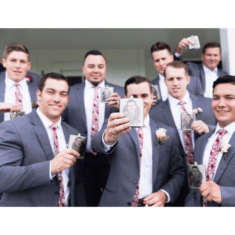 hip flask - Personalized groomsmen gifts
