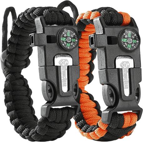 Atomic Bear Paracord Bracelet (2 Pack)