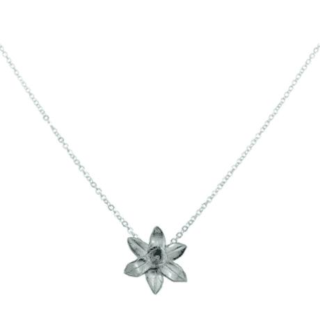 Flower Daffodil Pendant - 10 year anniversary gift