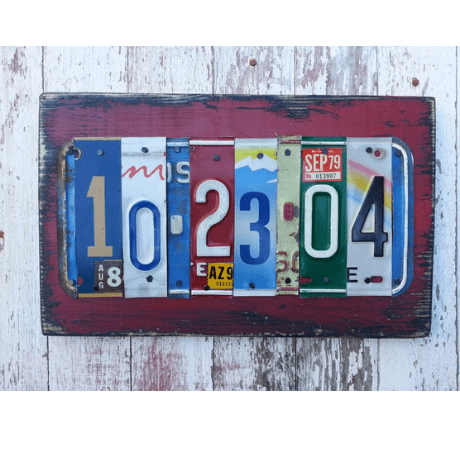 License Plate Sign Name Word