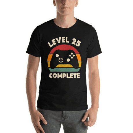Level 25 T-Shirt - 25th anniversary gifts