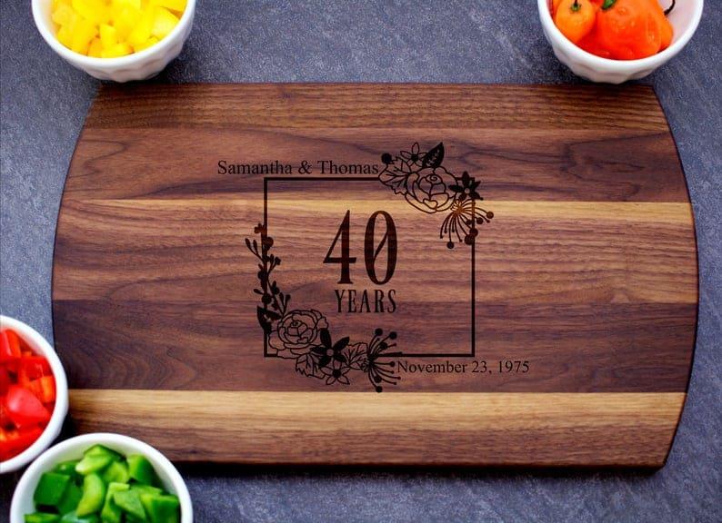 40th Anniversary Cutting Board