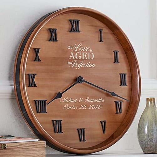 Anniversary Wine Barrel Clock