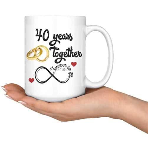 40th anniversary gift ideas: Coffee Mug