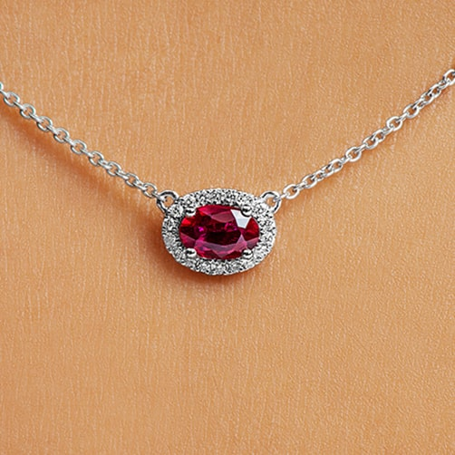 ruby wedding : Diamond Necklace