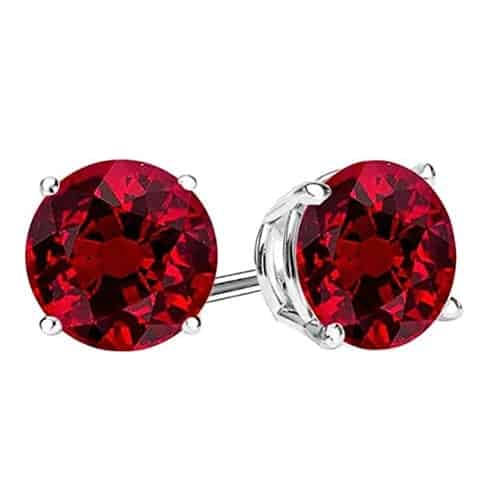 15th year anniversary present:Natural Ruby Stud Earrings