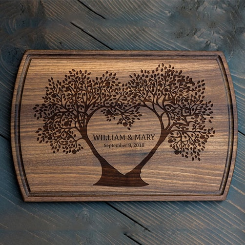 personalized anniversary gifts:Personalized Cutting Board