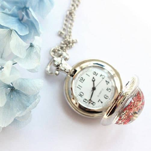 15 years of marriage:Engraved Pocket Watch