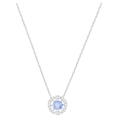 15th wedding anniversary gift for her:Swarovski Sparkling Dance Round Necklace