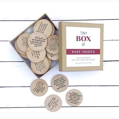 2 year wedding anniversary:Tiny Box of Date Night