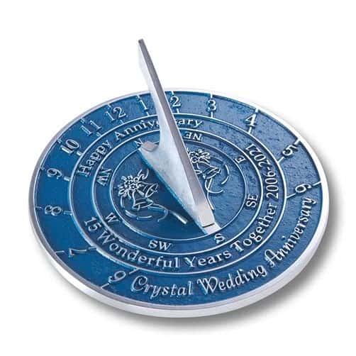 Unique 15th Wedding Anniversary Sundial