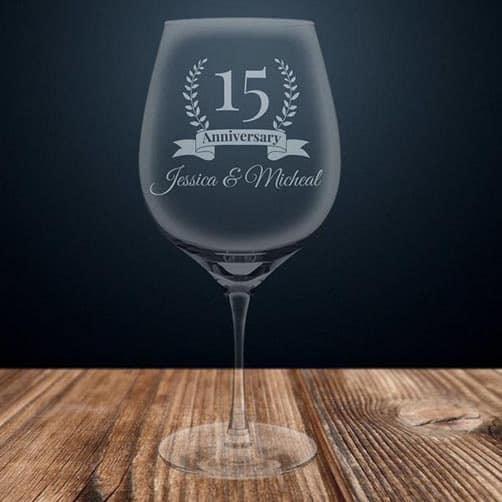 15th anniversary:Wine Glass
