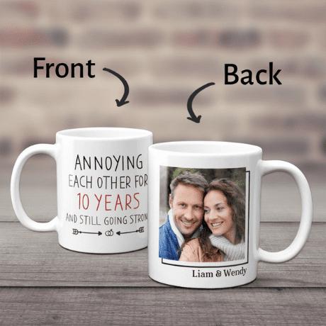 """""""10 Years"""" Custom Photo Mug"""