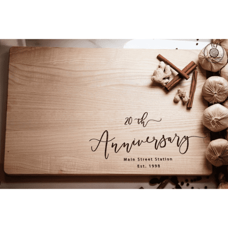 Personalized Cutting Board - 20th anniversary gifts