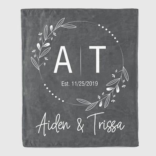 Anniversary Personalized Throw Blanket