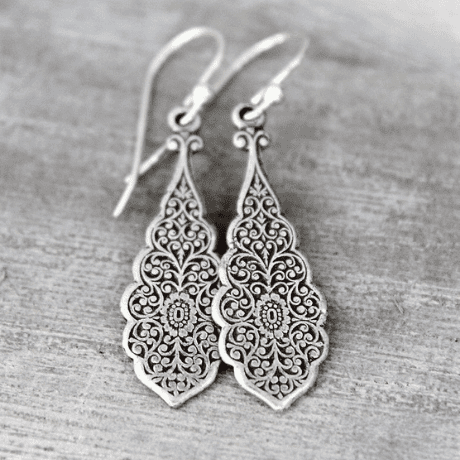 Silver Earrings  - 25th anniversary gifts