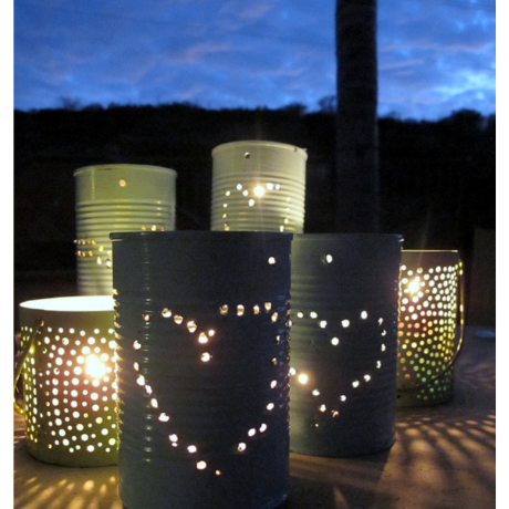 Tin Can Lanterns - 10 year anniversary gift