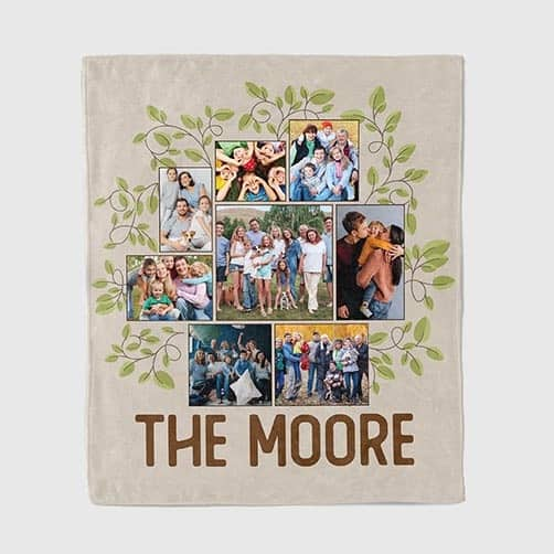 personalized anniversary gifts for couples: Family Tree Throw