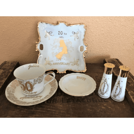 Golden Anniversary Table Set