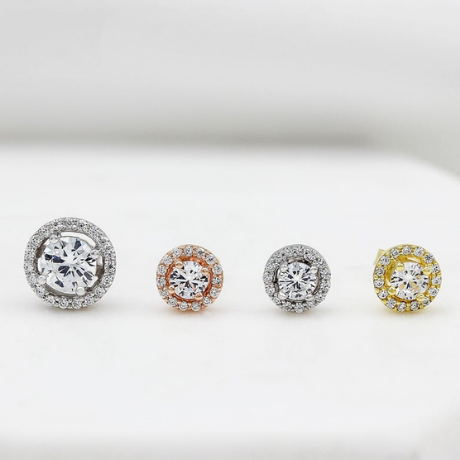 Halo Stud Earrings - 20th anniversary gift