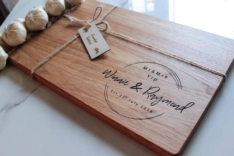 Personalized Cutting Board - 5 year anniversary gift