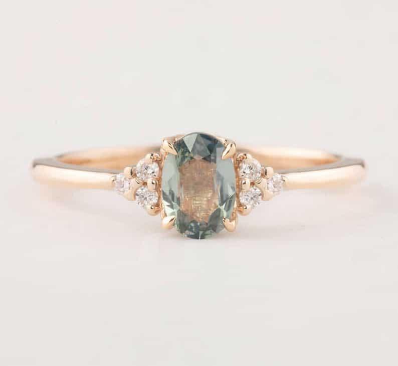 Blue Sapphire Ring - 5 year anniversary gift