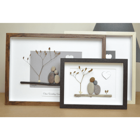 Pebble Art Picture - 20th anniversary gifts