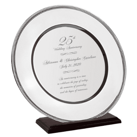 Silver Wedding Platter - 25th anniversary gifts