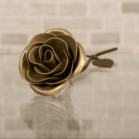 Gold Metal Rose