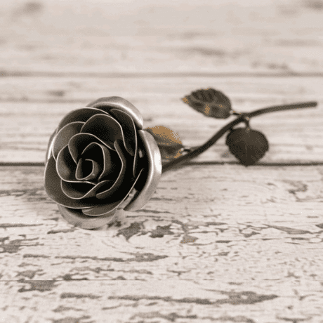 Personalized Gift - Silver Metal Rose