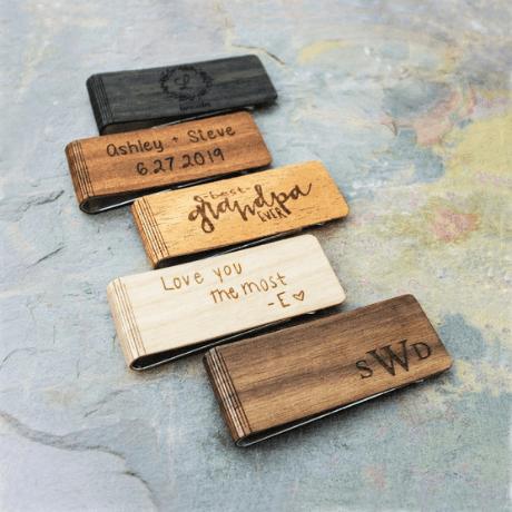 Wood Money Clip - 5 year anniversary gift