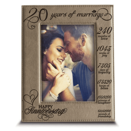 20 Years of Marriage Picture Frame
