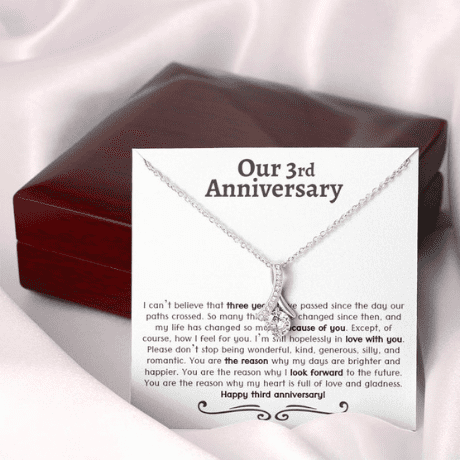 Necklace - 3rd anniversary gift