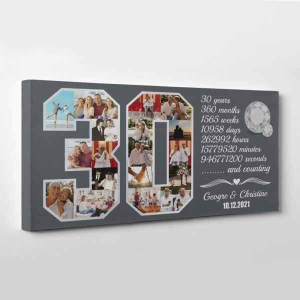 Custom Photo Collage Canvas Print for Husband