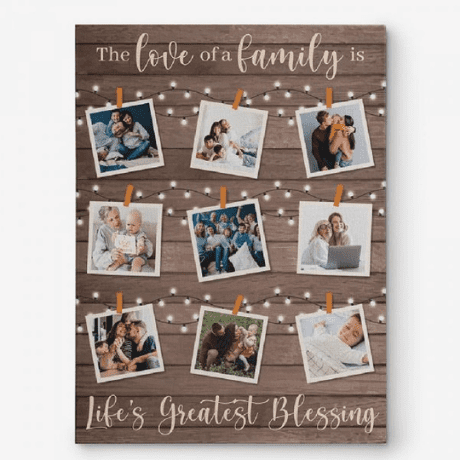 The Love Of A Family Custom Photo Collage Canvas Print