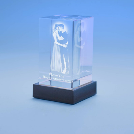 3D Anniversary Tower (Portrait) Crystal