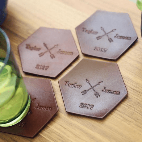 Leather Coaster - 3rd anniversary gift
