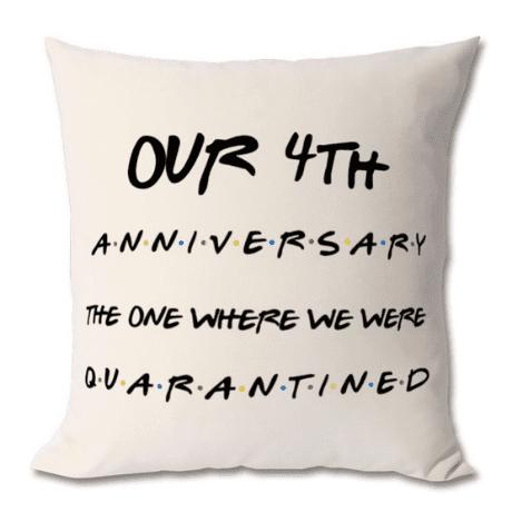 Anniversary Cushion - 4th anniversary gift
