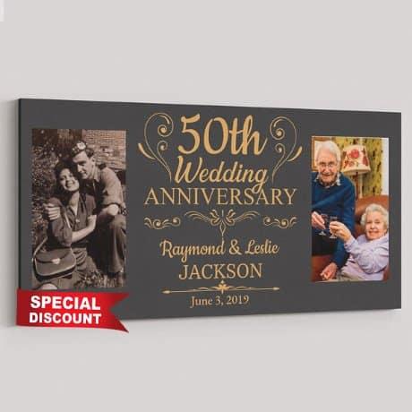 50th Anniversary Custom Canvas Print