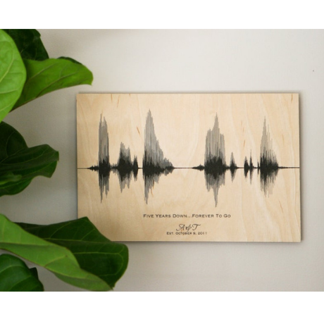 Anniversary Sound Wave Art Print