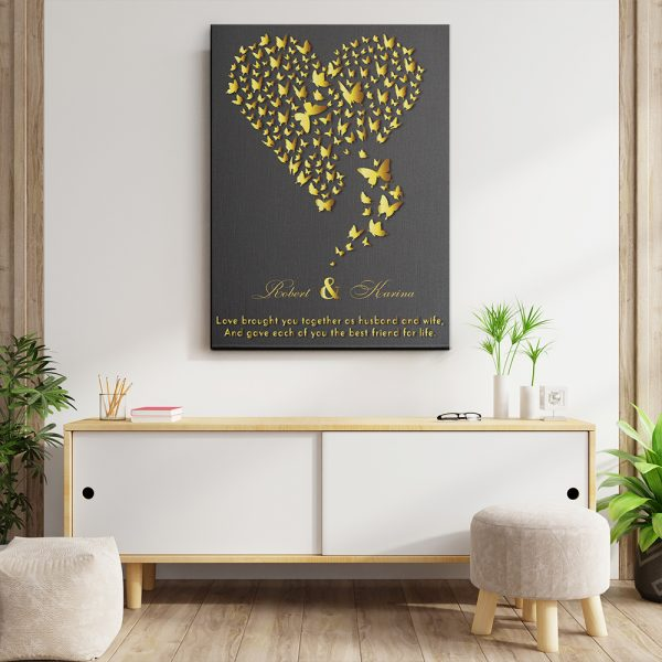 Love Brought You Together Husband And Wife Canvas Print