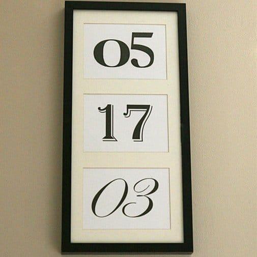 Anniversary Date Art