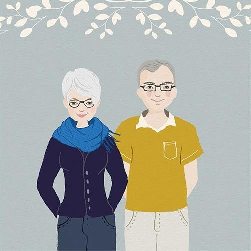 anniversary gift for parent: Custom Parent Portraits