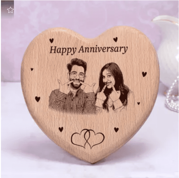 Engraved Personalized Wooden Photo Frame